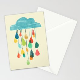 cloudy with a chance of rainbow Stationery Cards