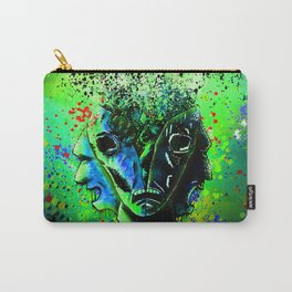 Split-face Green Carry-All Pouch
