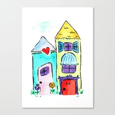 Apt 4A Watercolor Canvas Print