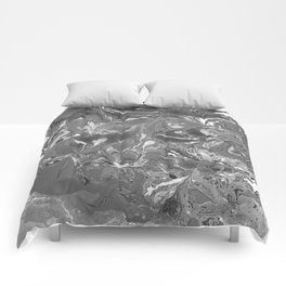 Gray Marble stone texture acrylic paint art Comforters