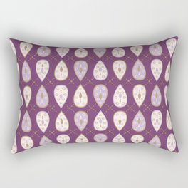 Pretty stylized tear drop leaves pattern Rectangular Pillow