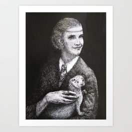 Hermione with an Otter Art Print