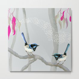 Blue Wren Australian Birds Metal Print