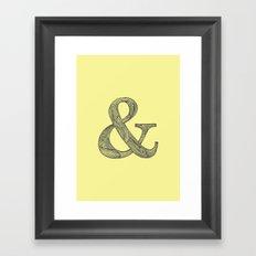 Yellow Ampersand Framed Art Print