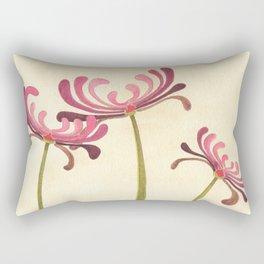 Mauve Chrysanthemums Rectangular Pillow