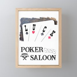 Welcome to the Poker Saloon Framed Mini Art Print