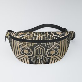 Art Nouveau Metallic design Fanny Pack