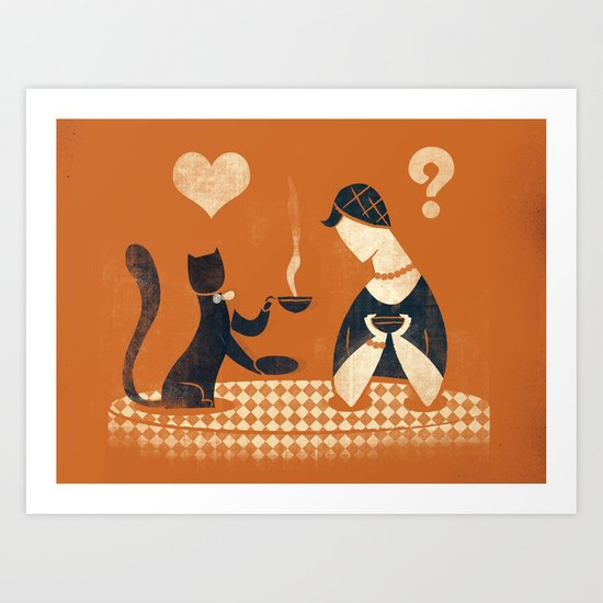 Blind date... Art Print