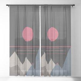 Minimal Sunset 10 Sheer Curtain