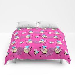 80s Flamingos Comforters