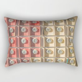 Locks aligned, numbers Rectangular Pillow