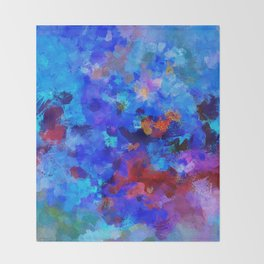 Abstract Seascape Painting Throw Blanket