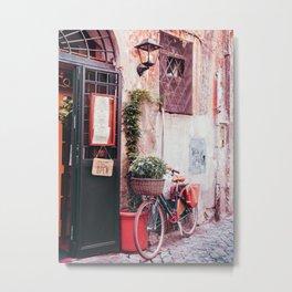 Vintage Bike in Rome Metal Print