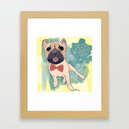 Frenchie Art. Bruno. Framed Art Print