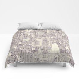 vintage halloween purple ivory Comforters
