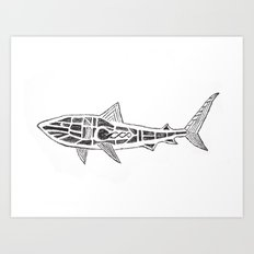 Shark Twist Art Print