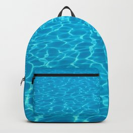 Swimming pool water sun reflection. Ripple Water. Backpack