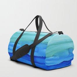 Alcohol Ink Seascape Duffle Bag