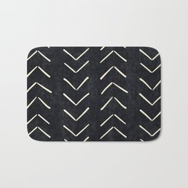 Mudcloth Big Arrows in Black and White Bath Mat
