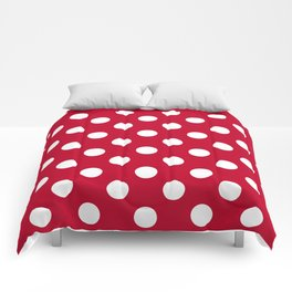Red and Polka White Dots Comforters
