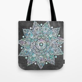 Mermaid Mandala on Deep Gray Tote Bag