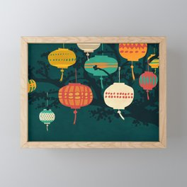 Lanterns Framed Mini Art Print