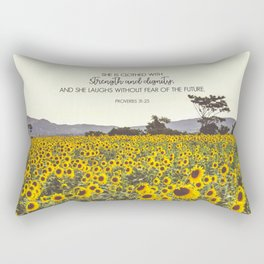 Proverbs and Sunflowers Rectangular Pillow