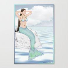 Seaside Mermaid Canvas Print
