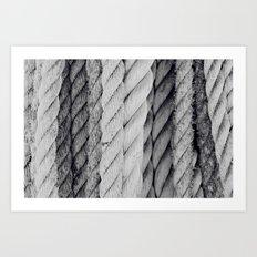 Ropes Black and White Nautical Art Print