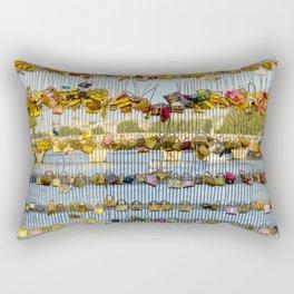 Love padlocks - Paris, France Rectangular Pillow
