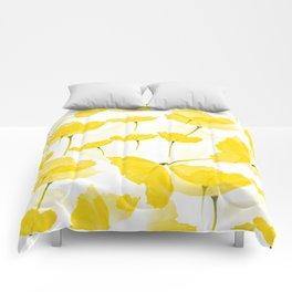 Light Yellow Poppies Spring Summer Mood #decor #society6 #buyart Comforters