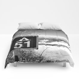 Camping Area 51 Comforters