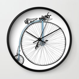 Blue Penny Farthing Wall Clock