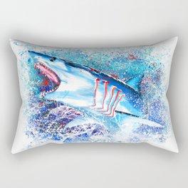 Mako Shark Breaching Rectangular Pillow
