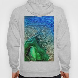 Turquoise Green Agate Mineral Gemstone Hoody