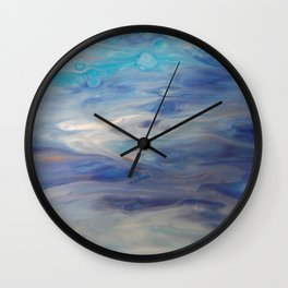Ethereal Skies - Abstract Acrylic Art by Fluid Nature Wall Clock