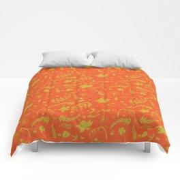 Yellow/green + Orange Spring Folliage SS18 Comforters