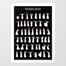 Wuthering Heights Infographic Art Print