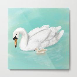 Mother Swan Metal Print
