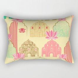 Art deco Indian elements Rectangular Pillow