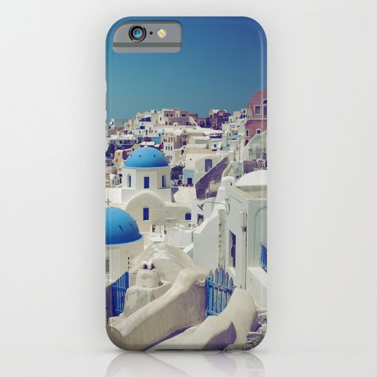 Blue Domes, Oia, Santorini, Greece iPhone & iPod Case