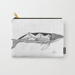 Humpback whale wave action Carry-All Pouch