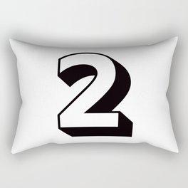 Lucky Number Two ... 2 Rectangular Pillow