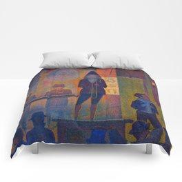 "Georges Seurat ""Circus Sideshow (Parade de cirque)"" Comforters"