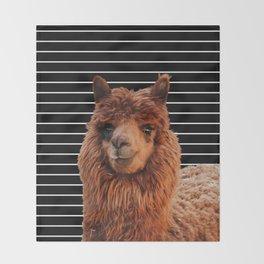 Llama Drama Throw Blanket