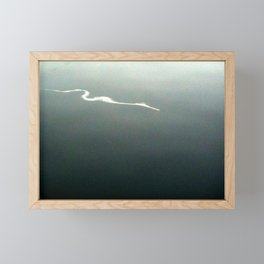Contrail In Water II Framed Mini Art Print
