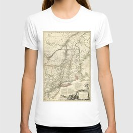 American Revolutionary War Map (1782) T-shirt