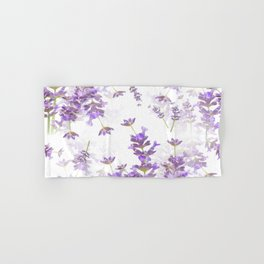 Lavender Bouquets On White Background #decor #society6 #buyart Hand & Bath Towel