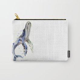 Humpback Whale, swimming whale artwork Carry-All Pouch