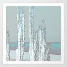 Cactus Blues Art Print